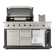 Luciano Gas Outdoor Kitchen Incl. Refrigerator