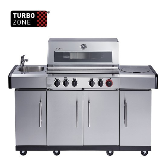 Gasolgrill Kansas Pro 4 SIK Profi Turbo