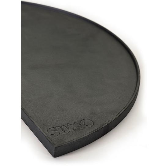 "Cast Iron Reversible Plate Half Moon Midi 21"""