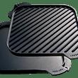 Stekplatta/grillplatta gjutjärn 26,67 cm